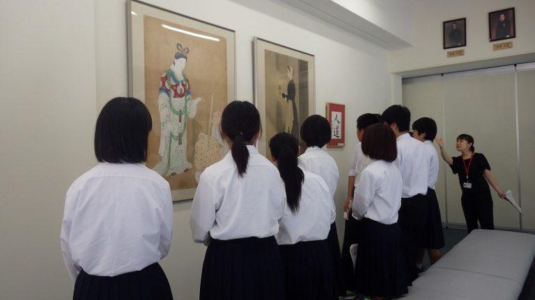 中仙中図書館見学