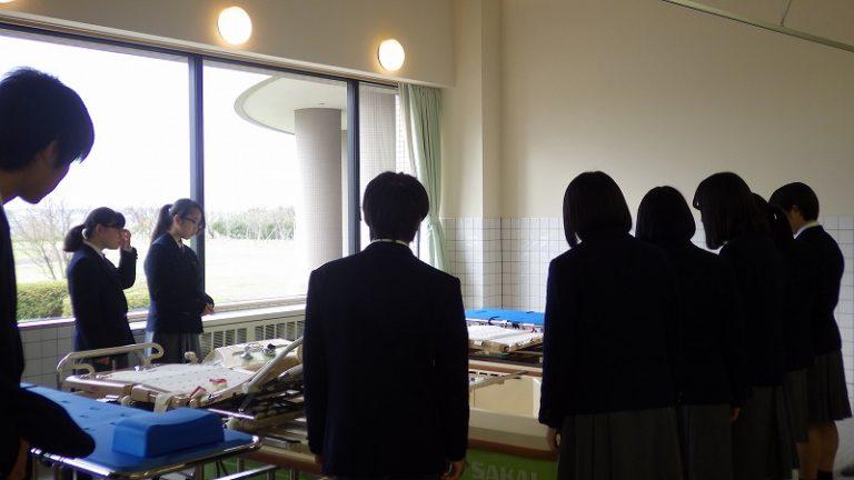 西目高校入浴実習室にて