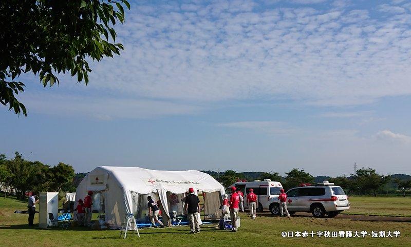 日本赤十字社秋田県支部の訓練
